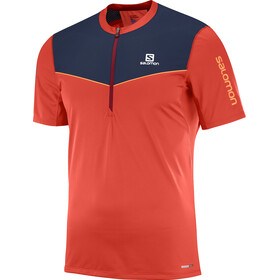 Salomon M's Fast Wing Half Zip SS Tee Fiery Red